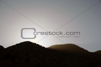 Greek mountain during sunset, Greece