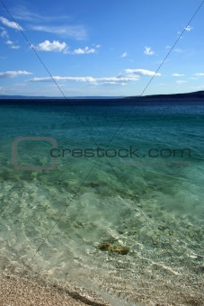 Beach on Adriatic sea, Brela, Croatia