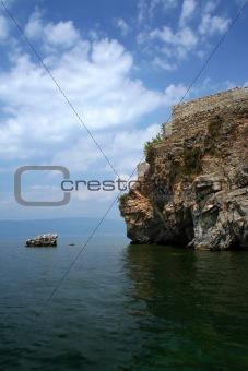 Ohrid lake scene in Macedonia