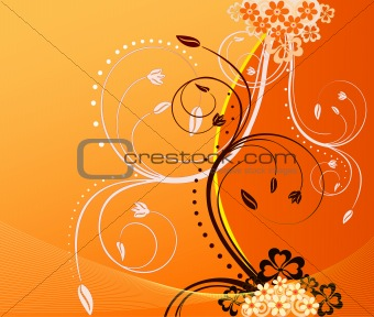 Floral  artistic vector  background illustration