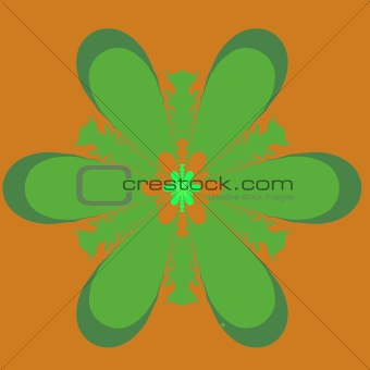 Green and Orange Fractal
