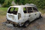 Burned out stolen car