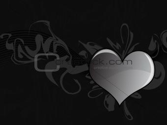 Black Heart Grunge Background