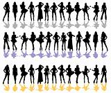 women silhouette color