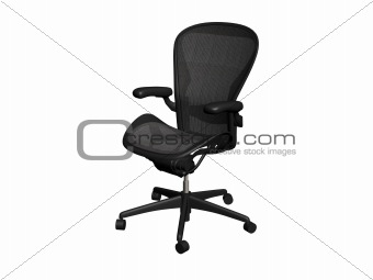 Black office chair.