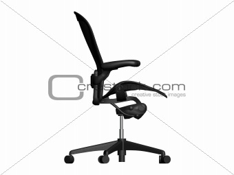 Black office chair - side view.