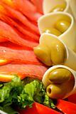 prosciutto ham and cheese salad