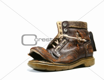 Old and bronken shoe.