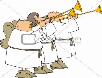 Three angel trumpeters