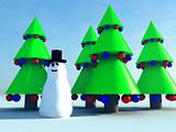 Snowman and Christmas Tree 8
