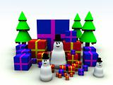 Snowman and Christmas Presents 8
