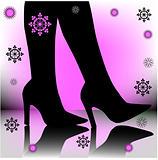 festive stiletto boots