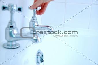 bathroom taps running bath