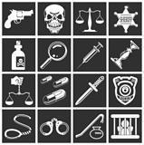 crime icon series set