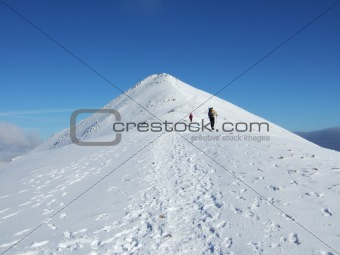 Approaching the summit of Catstyecam