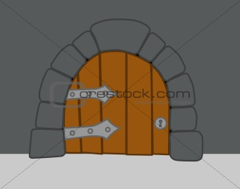 old heavy door