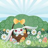 Bunny Hiding Eggs