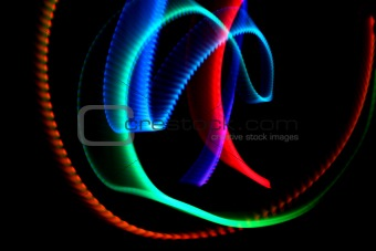 forms of swirly lights