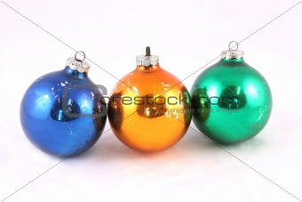 Old Christmas balls - isolated