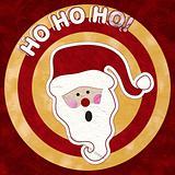 HO HO HO! - Paper Cut Santa Claus