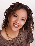 Young hispanic woman portrait with big smile