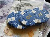 money and poker betting chips