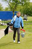 Golfer with bag