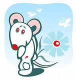 mousy and flower