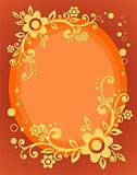 orange floral frame