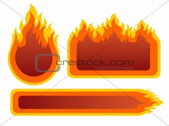 three fire frames