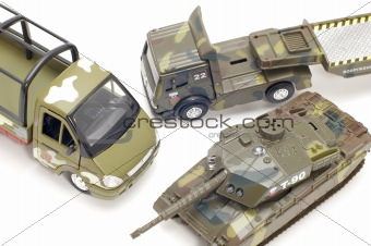 military transport close up