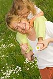 Happy flower picking