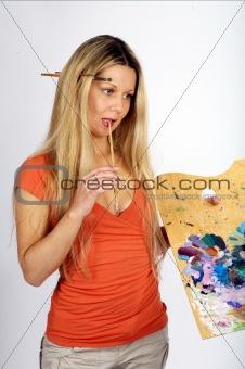 Blond Painter