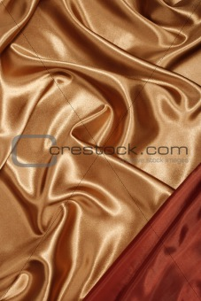 Red gold silk with red corner
