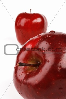 Fresh apple with drops