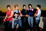 Teen group of musicians