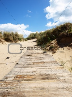 a pathway to beach