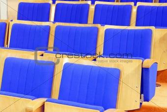 Cinema chairs blue