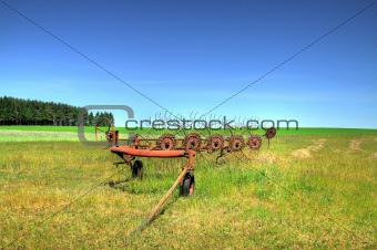 old farm machine