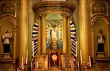 Gold Altar, Statues, Basilica, Guanajuato, Mexico