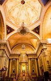 Golden Altar Pink Dome Basilica Guanajuato Mexico