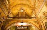 Organ Yellow Arch Basilica Guanajuato Mexico