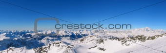 Panoramic French Alps