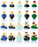 Vector multicolored people icons