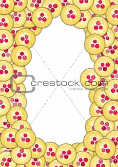 Frame with cupcakes