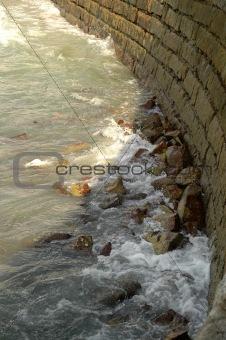 Wave Hitting Wall