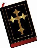 Bible with cross & jess