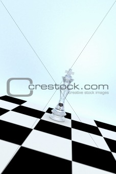Glass Chess King