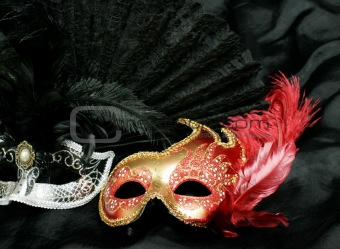 beautiful and mysterious carnival mask