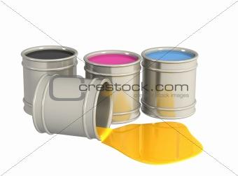 Conceptual image -  palette CMYK